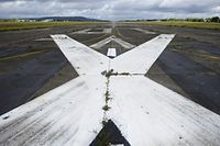 Photo prise le 17 octobre 2014 sur l'ancienne base aérienne 128 de Metz-Frescaty, fermée en 2011