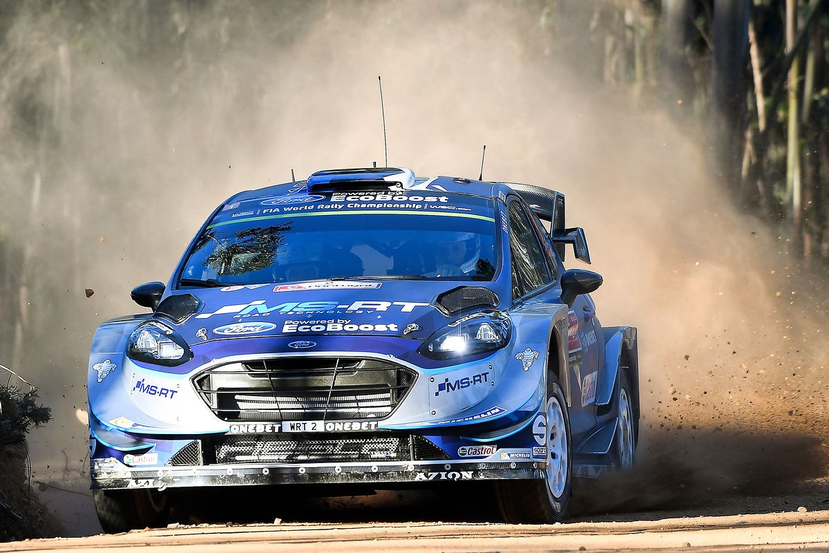Ott Tanak of Estonia driving his Ford Fiesta WRC during the Shakedown of the Rally of Portugal of the World Rally Championship (WRC) in Baltar, Portugal, 18 May 2017. The competition runs from 18th until 21th May. HUGO DELGADO/LUSA