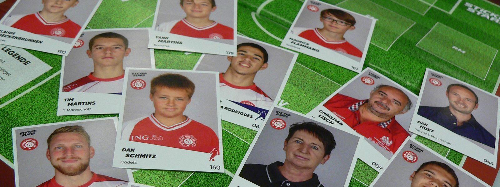 Vom Stümer bis zur Ausschankhilfe sind im Stickeralbum des FC Wiltz quasi alle Aktivkräfte des Vereins vereint.