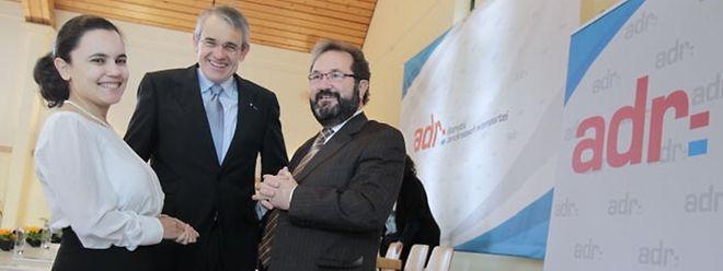 Die neue Führung der ADR (v.l.n.r.): Generalsekretärin Liliana Miranda, Parteipräsident Jean Schoos und Abgeordneter und Partei-Urgestein Gast Gibéryen.