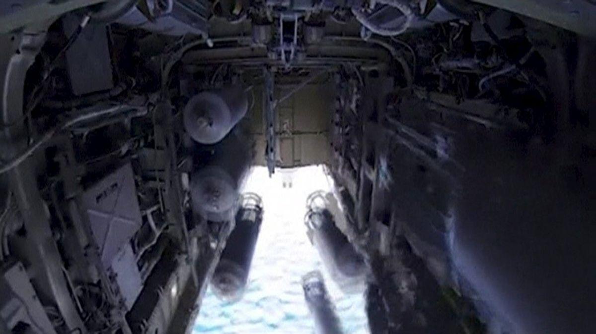 Image tirée d'une vidéo diffusée par la Défense russe
