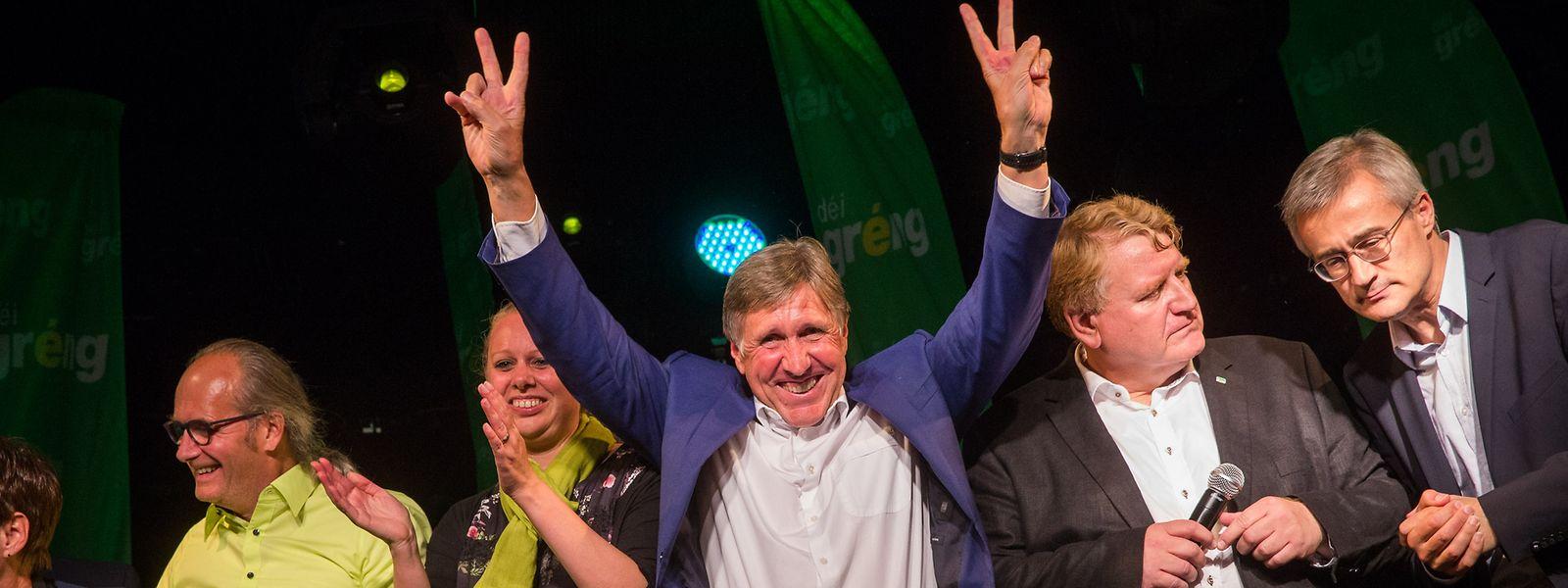Grüner Jubel: Déi Gréng können mit drei Sitzgewinnen überzeugen und wollen wieder in die Regierung.
