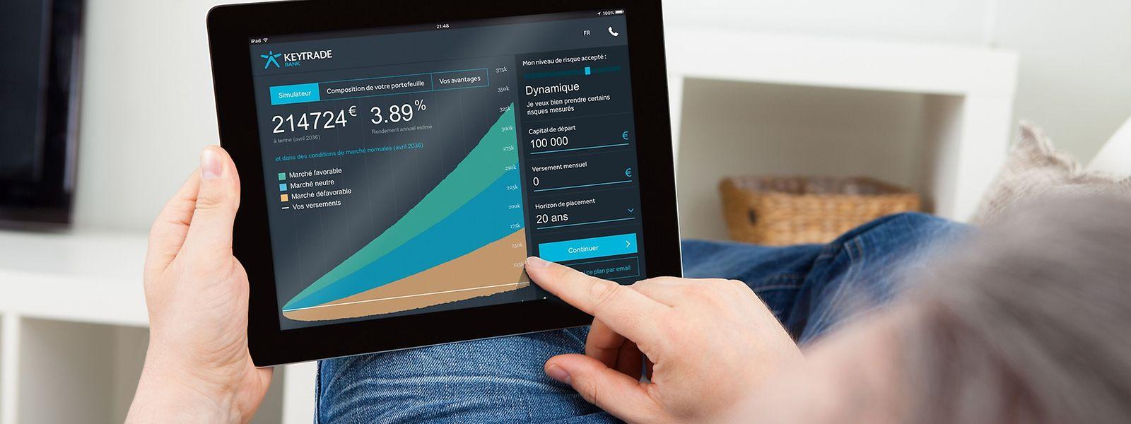 KeyPrivate permet de gérer un portefeuille de plus de 15.000 euros sur une tablette.