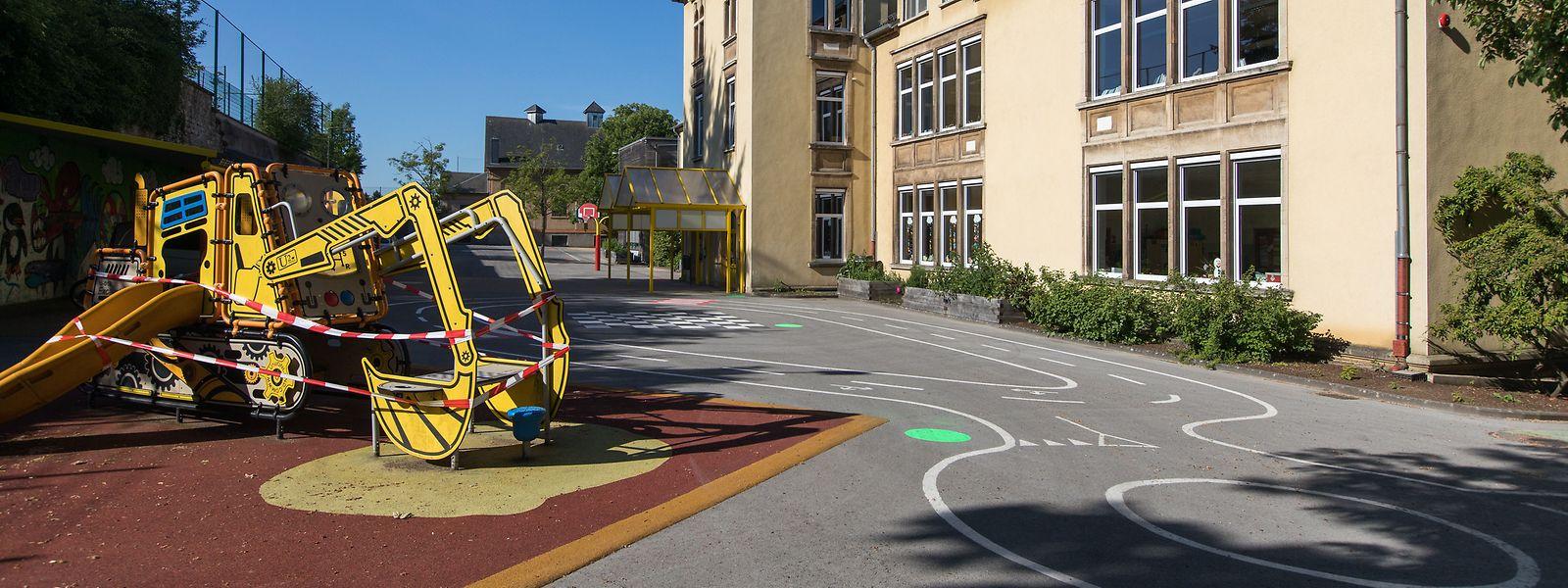 Der Schulhof der Düdelinger Deich-Schule wurde in Zonen eingeteilt.