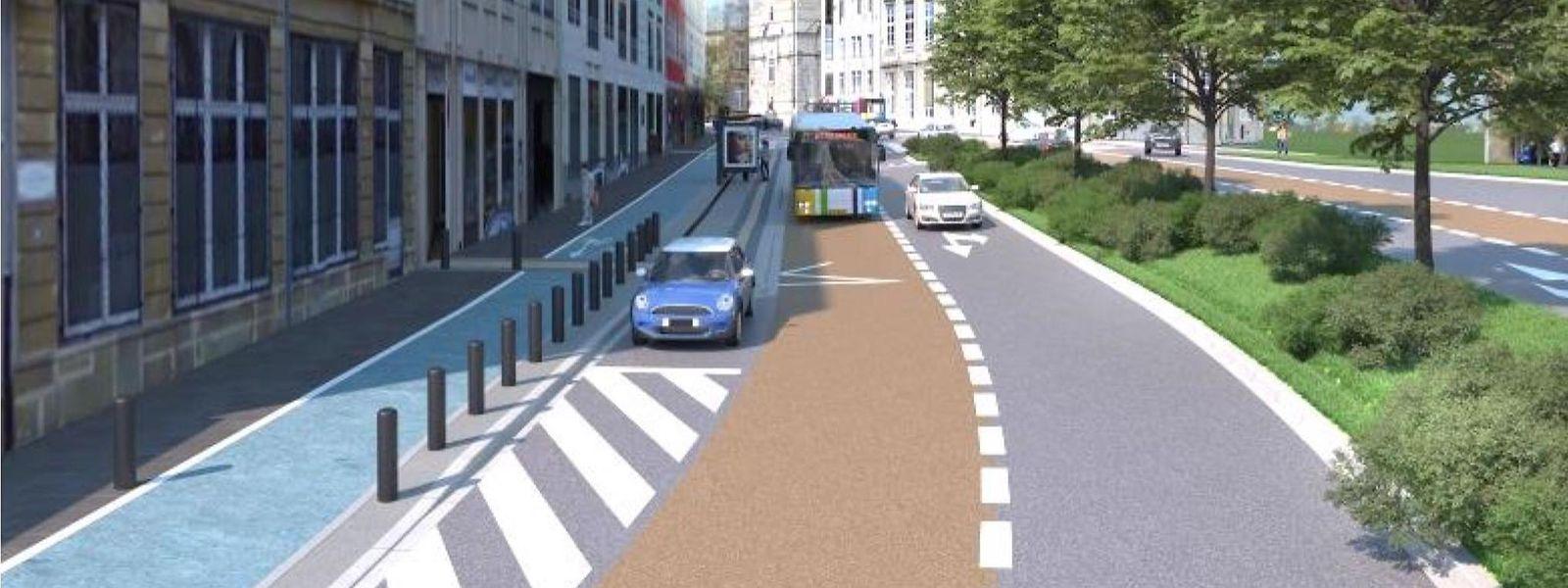 Auch in Zukunft wird es keine klare Trennung zwischen Rad- und Fußweg geben.