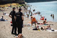 Lokales,Stausee Insenborn,Anmeldekontrolle,Polizeikontrolle. Foto: Gerry Huberty/Luxemburger Wort