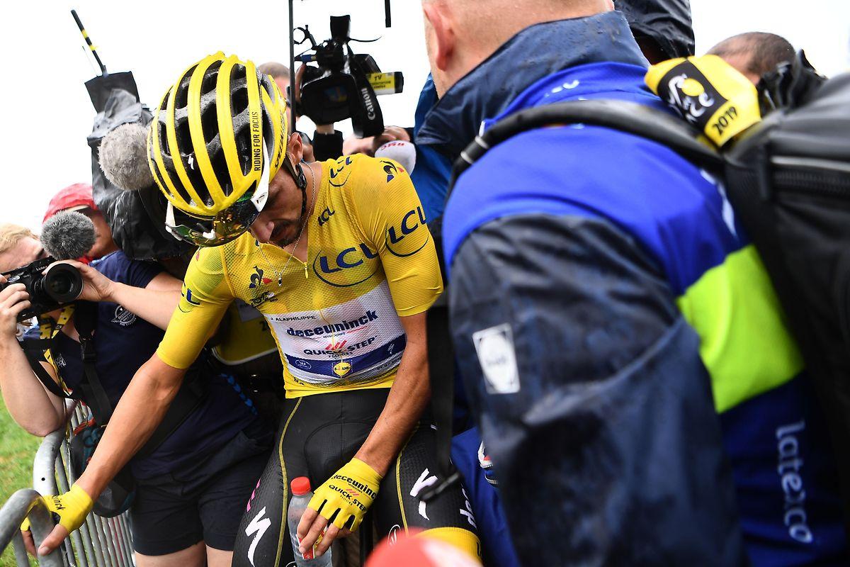 Julian Alaphilippe hat sein Gelbes Trikot verteidigt.
