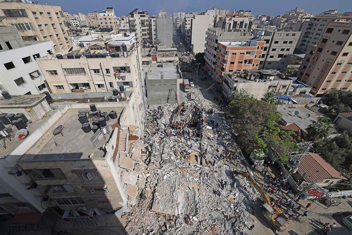 Ein zerstörtes Gebäude in Gaza City.