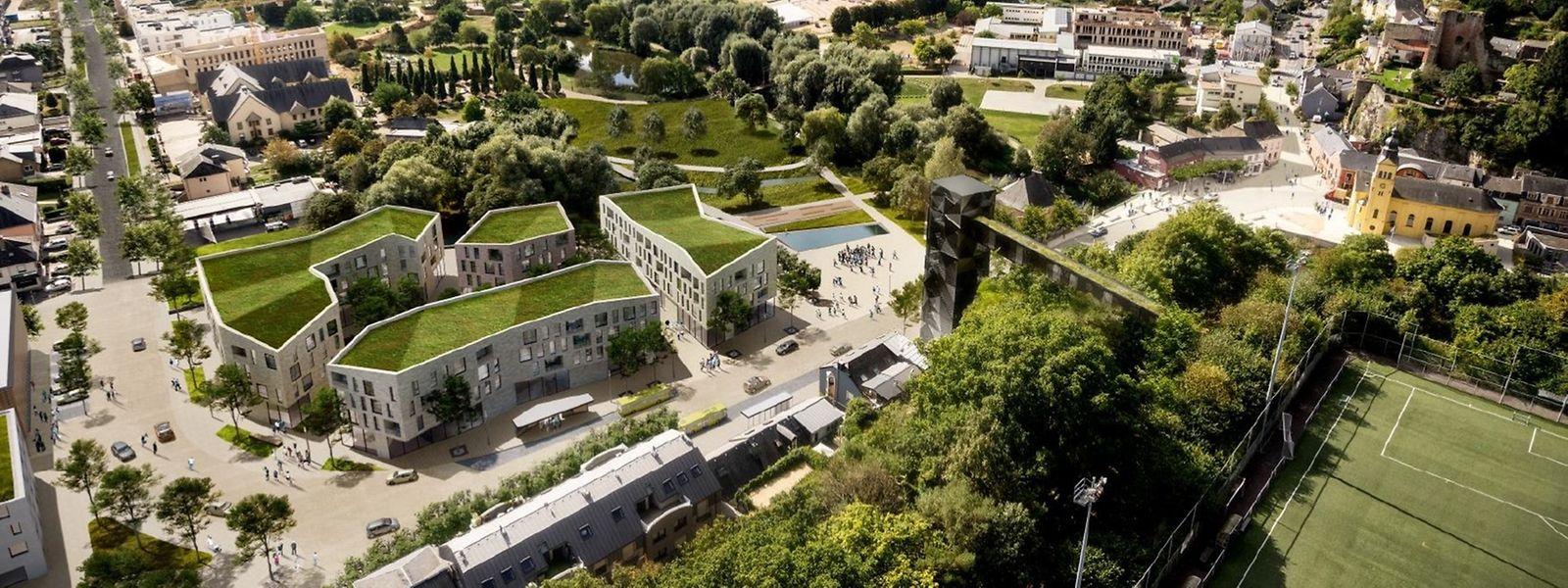 Une fois allégé de son trafic, le centre d'Hesperange devrait être réaménagé en «espace partagé».