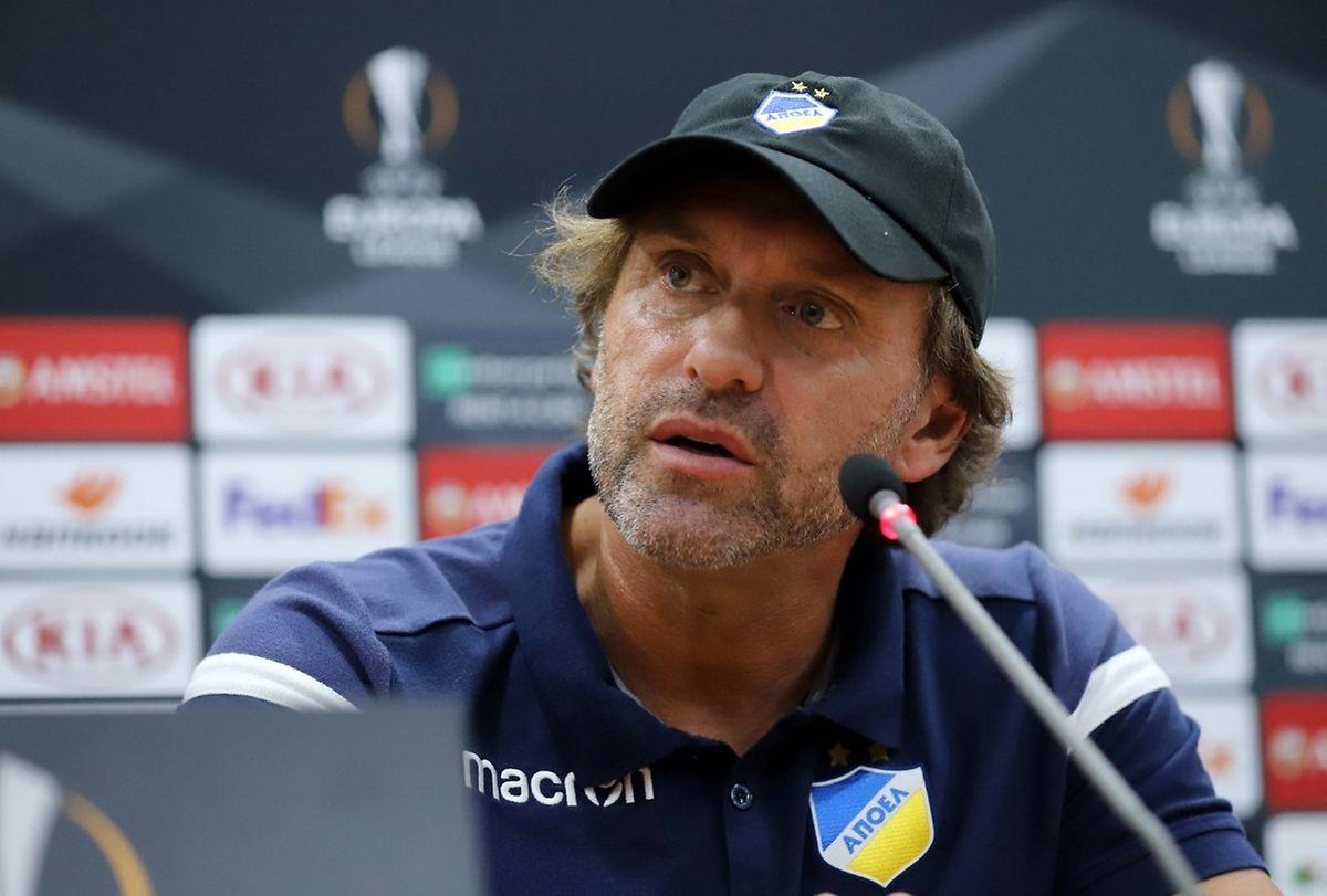 Le coach allemand de l'APOEL, Thomas Doll compte sur sa star jordanienne Musa Al-Taamari pour faire la différence