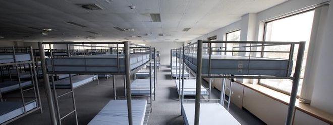 Im Nachtfoyer in Findel können bis zu 200 Personen aufgenommen werden.