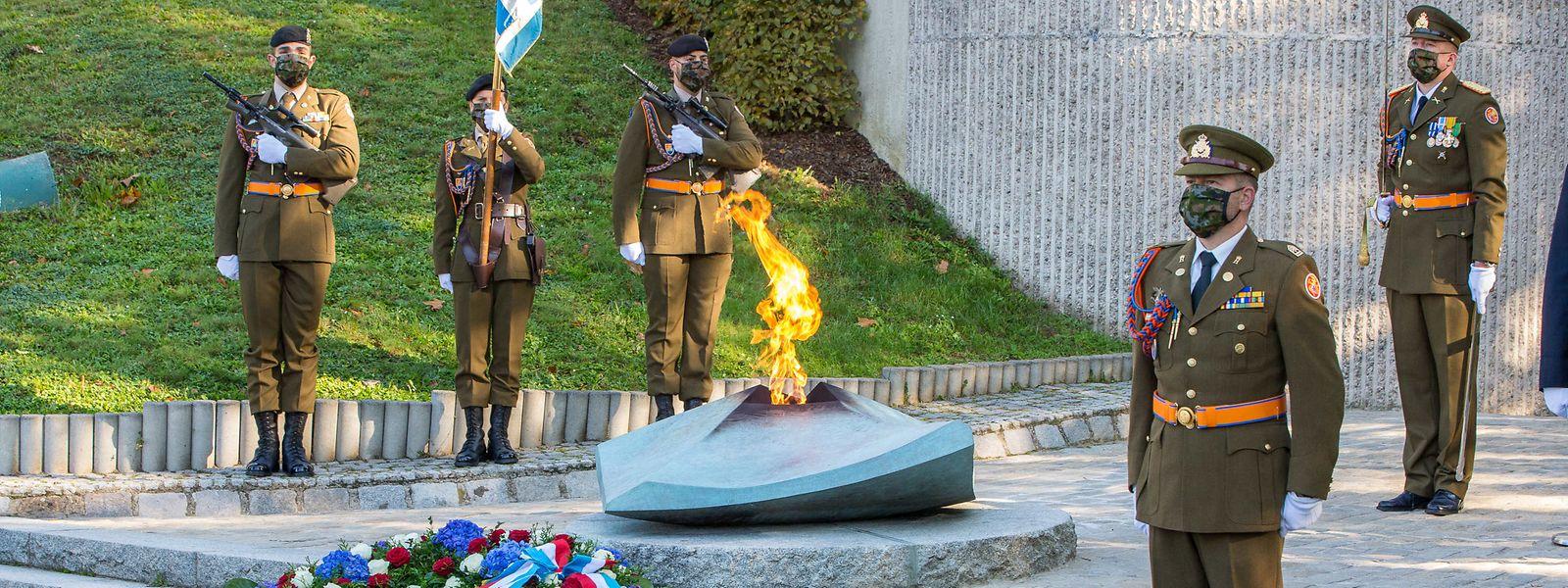 Der Gedenktag begann mit einer Zeremonie am Kanounenhiwwel.