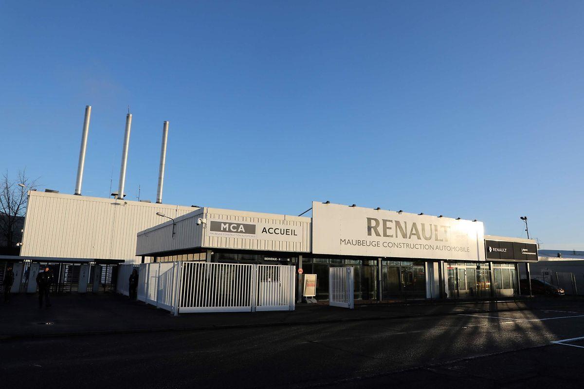 Die Renault Produktionsstätte in Maubeuge, Nord-Frankreich.