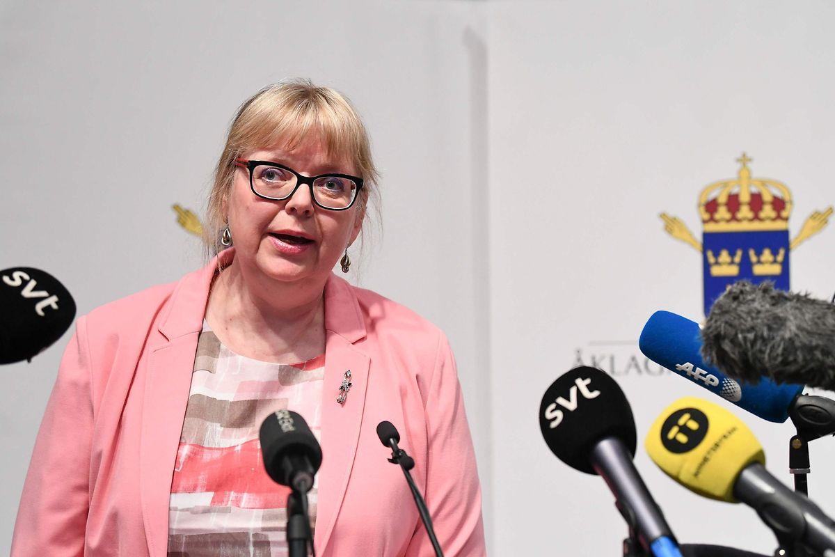 Die stellvertretende Direktorin der schwedischen Staatsanwaltschaft, Eva-Marie Persson.
