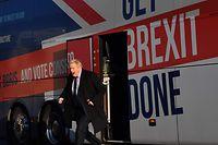 Johnson geht zwar als Favorit ins Rennen, aber sein Kontrahent Jeremy Corbyn ist ihm dicht auf den Fersen.