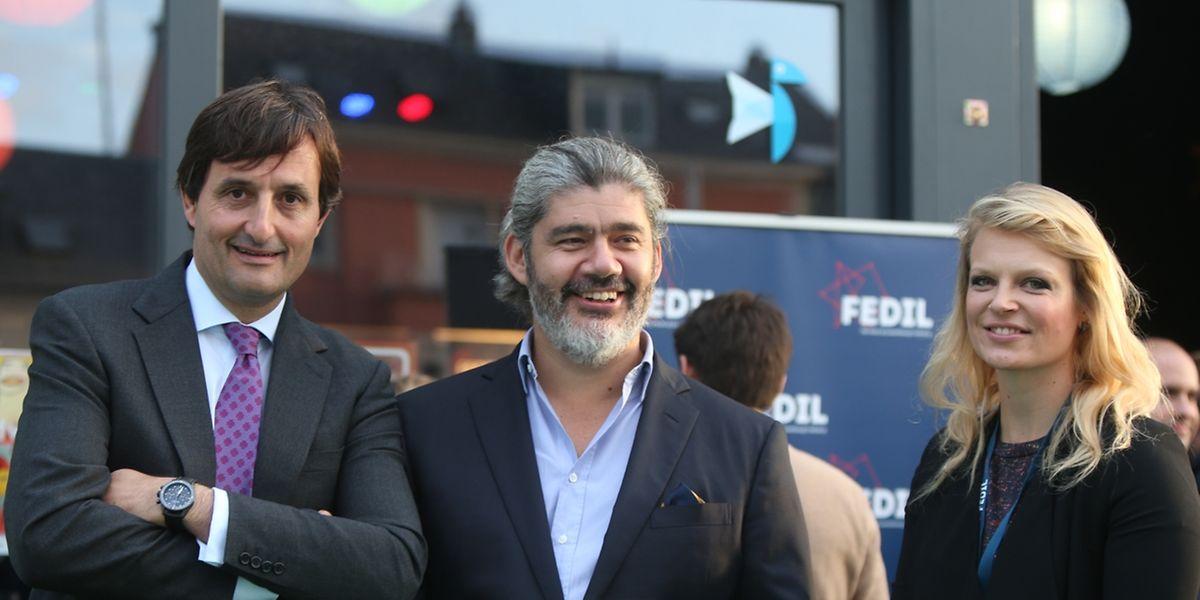 Nicolas Buck (Fedil), Rodrigo Sepulveda (Expon Capital) et Genna Elvin (Tadaweb)