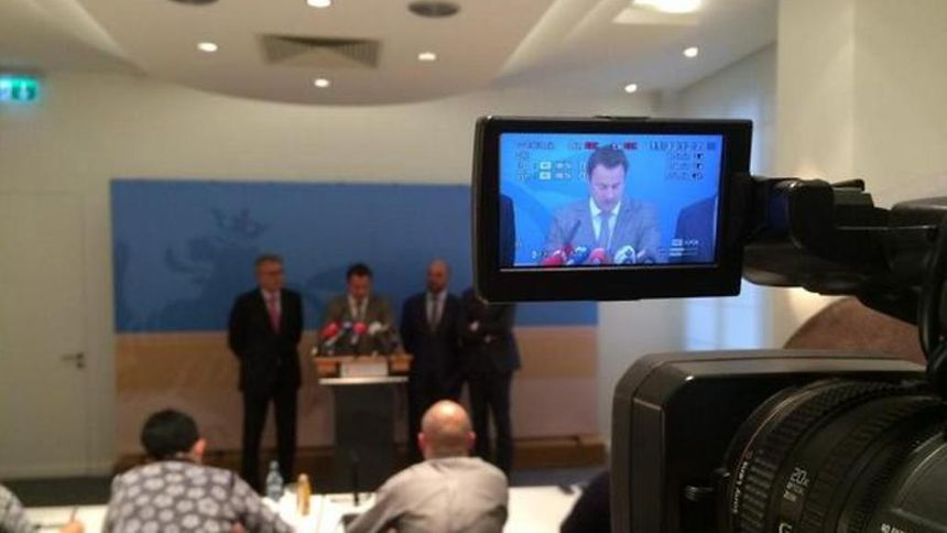 Xavier Bettel holds press conference