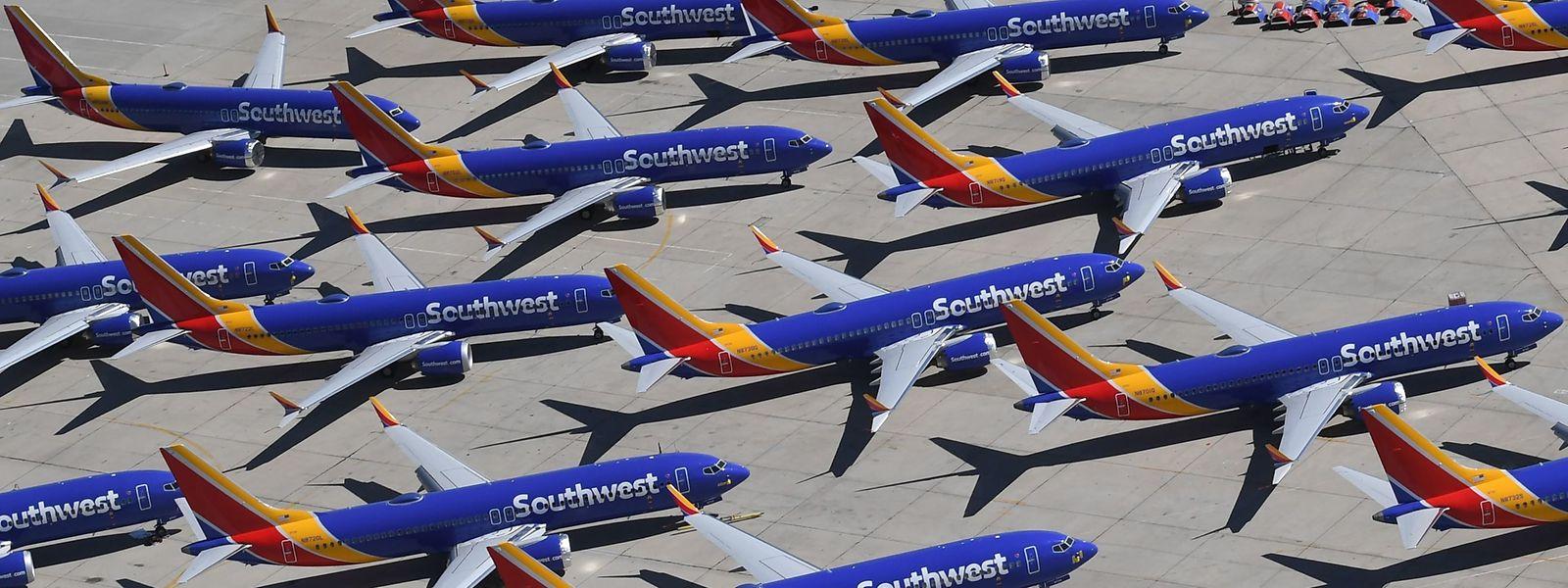 Stillgelegte Maschinen des Typs Boeing 737 MAX der Southwest Airlines.