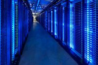 """In this undated photo released by Facebook shows the company server room at their Prineville Data Center in Prineville Oregon. Facebook on May 17, 2012, announced a price of 38 USD per share for its record-setting initial public offering, which gives the leading social network a market value of 104 billion USD. The shares will begin trading on May 18 under the symbol """"FB"""" on the Nasdaq, the company said in a statement announcing the richest-ever technology IPO and second biggest for a US firm.      = RESTRICTED TO EDITORIAL USE - MANDATORY CREDIT """"AFP PHOTO / Facebook / Alan Brandt"""" - NO MARKETING NO ADVERTISING CAMPAIGNS - DISTRIBUTED AS A SERVICE TO CLIENTS = Images may only be used when featuring the Facebook product, or used to illustrate an article about Facebook"""