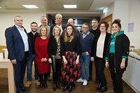 Das neue, zwölfköpfige Komitee des Geschäftsverbandes glaubt an die Zukunft des Einkaufsstandortes Esch.