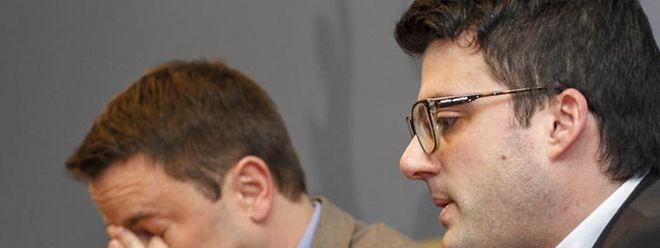 Februar 2015: Vincent Artuso legt seinen Bericht vor; links Premier Xavier Bettel.