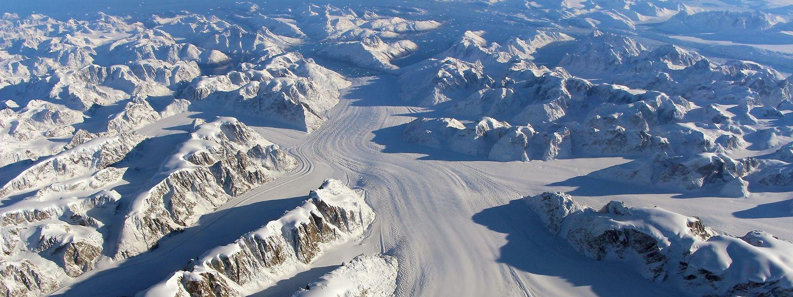Der Heimdal-Gletscher in Südgrönland.