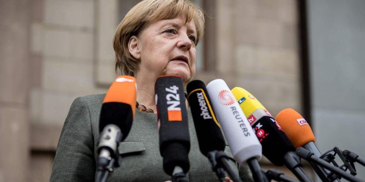 A chancellor alemã, Angela Merkel, com motivos para estar satisfeita.