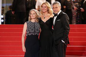 Julia Roberts pela primeira vez no festival de Cannes e em muito boa companhia
