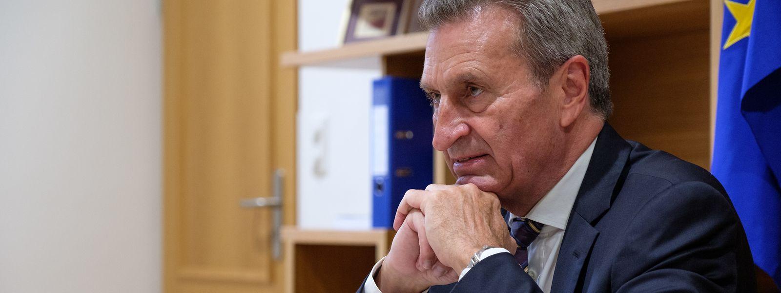 Günther Oettinger, Jahrgang 1953, will sich erst nach seinem Ausscheiden in Brüssel für eine neue Arbeitsstelle entscheiden.