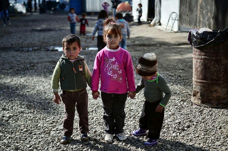 Szenen in einem Lager im Dorf Idomeni an der griechsich-mazedonischen Grenze.