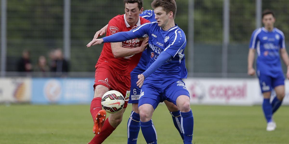 Duel musclé entre Ben Vogel et Michel Bechthold. Grevenmacher a décroché sa deuxième victoire de la saison.
