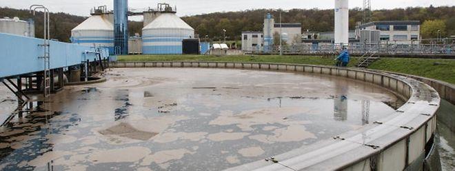 Die Kläranlage in Petingen reinigt die Abwässer von 70.000 Einwohnern.