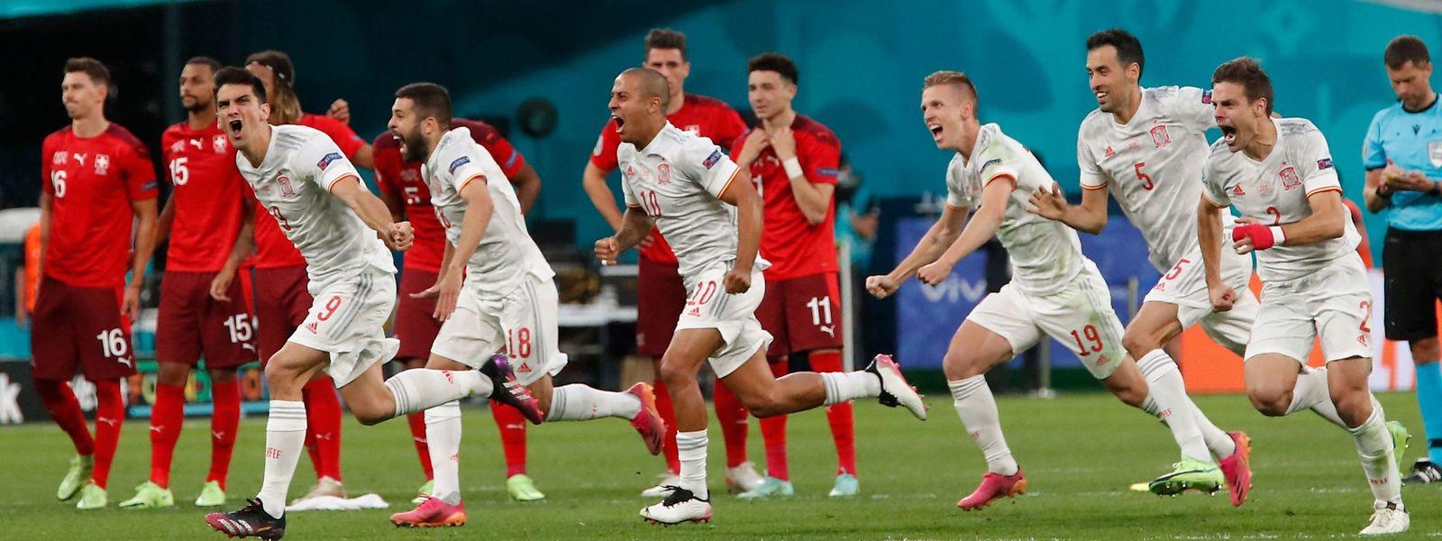 L'Espagne a dû attendre les tirs au but pour obtenir son billet pour les demi-finales, face à la Suisse.