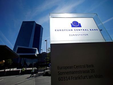 The headquarters of the European Central Bank (ECB) pictured in Frankfurt, Germany
