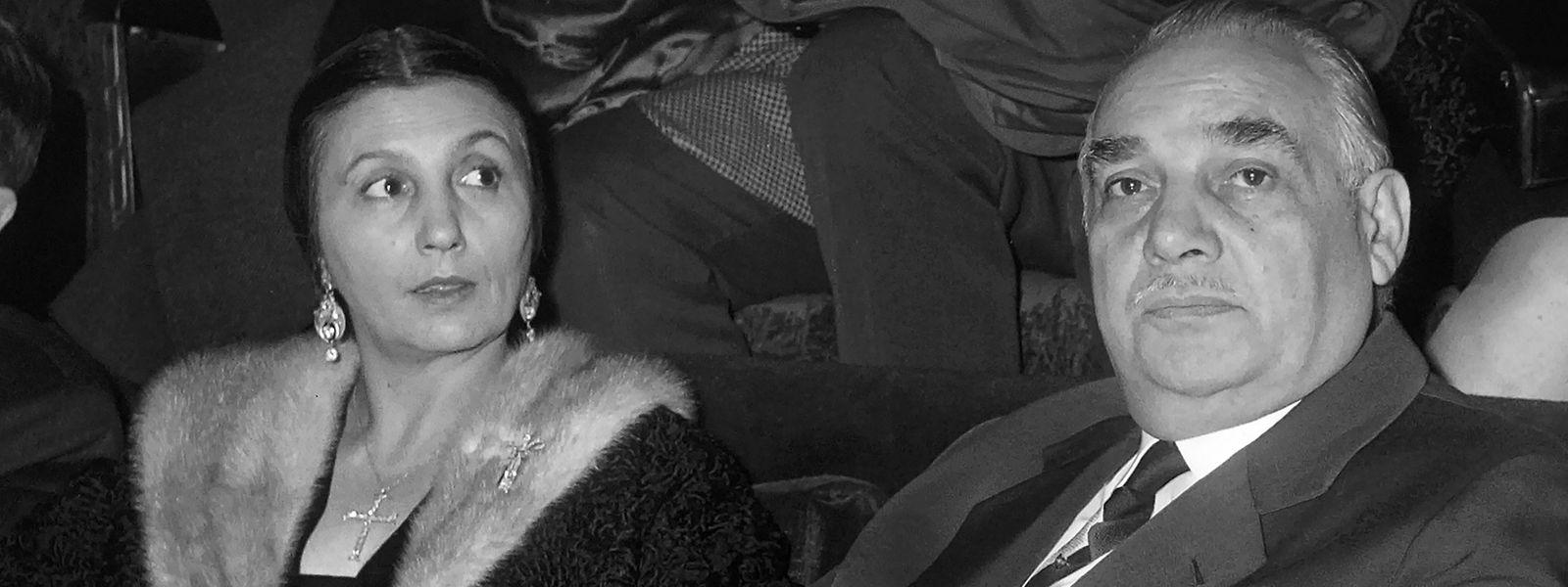 En 1963, Rosa Bouglione et son époux Joseph lors d'une représentation du cirque Medrano à Paris