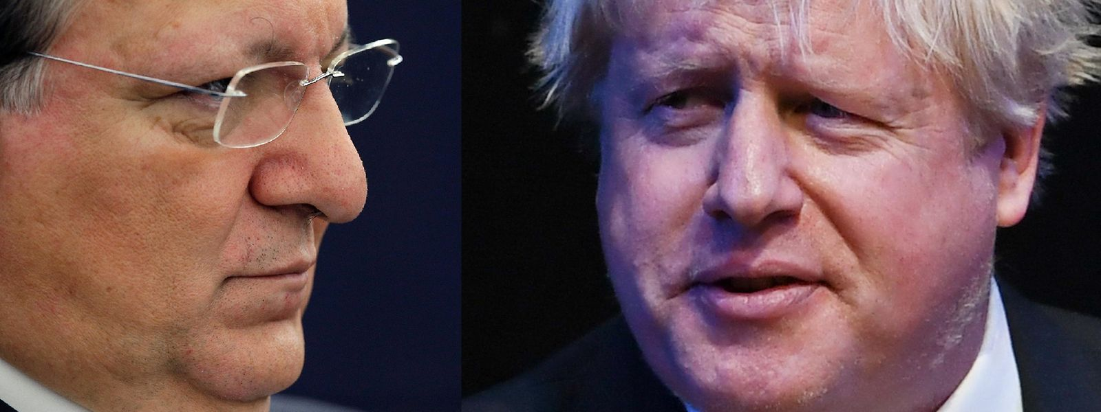 Durão Barroso e Boris Johnson.