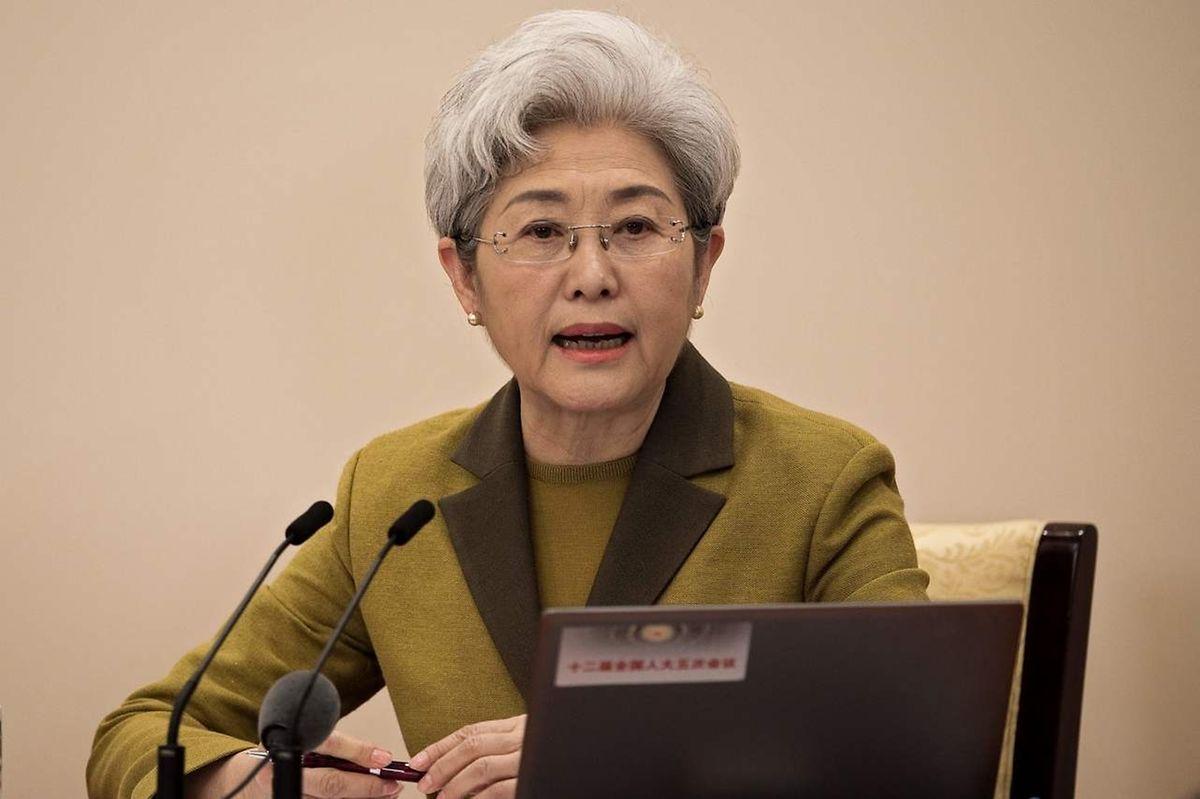 Fu Ying, Sprecherin des Volkskongresses.