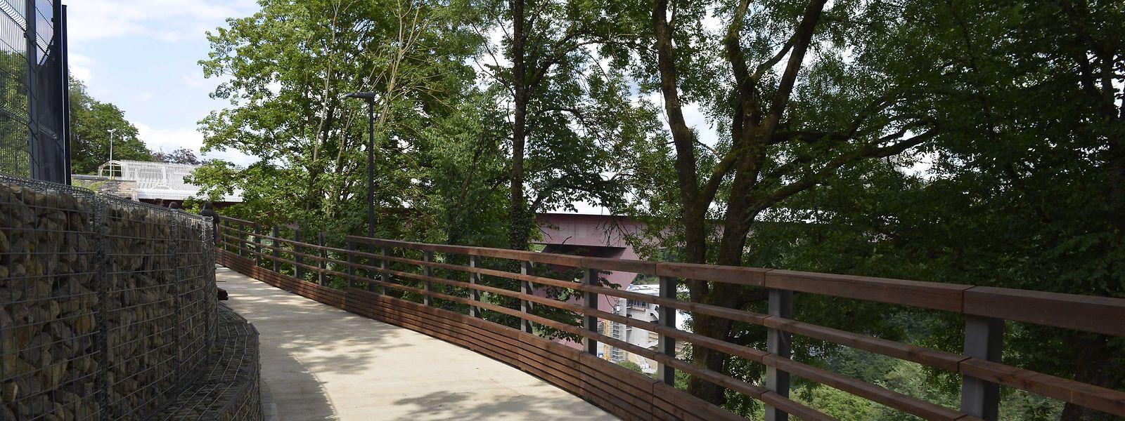 Le nouveau tronçon qui va du Pont-Rouge vers la Ville via  la partie publique du parc Pescatore sera ouvert au public à partir de ce jeudi 27 juillet 2017 à 12 heures.