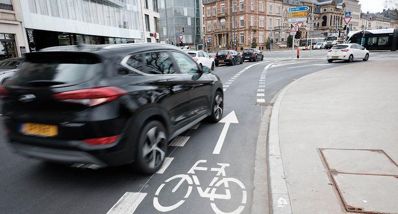 Top 10 der gefährlichsten Stellen für Radfahrer in der Hauptstadt / Foto: Steve REMESCH