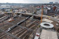 Chantier Pont Jean-Pierre Buchler  - Luxembourg - Ville -  - 18/03/2021 - photo: claude piscitelli