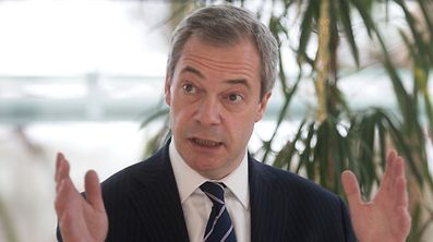 """""""Europe is a little backyard compared to the global economy out there,"""" according to Farage."""