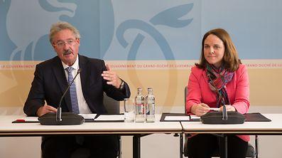 Jean Asselborn et Corinne Cahen ont donné une conférence de presse commune ce vendredi matin pour faire le point sur la situation au Luxembourg.