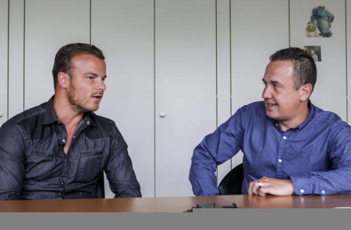 Thomas Gilgemann (à gauche) en plein dialogue avec Pascal Carzaniga. Une fois lancés, plus possible de les arrêter!