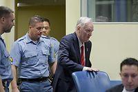 Ratko Mladic, ancien chef militaire des Serbes de Bosnie, 74 ans, est «convaincu de son innocence».