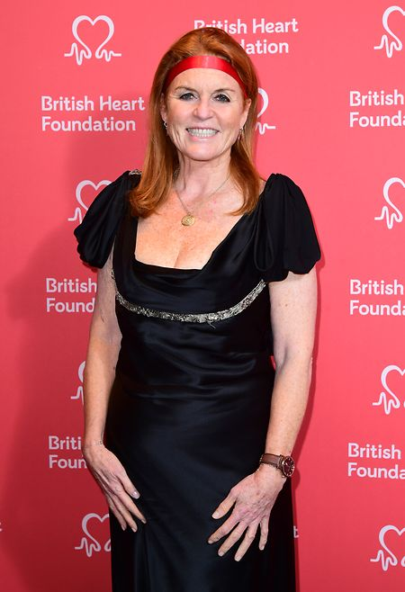 2019: Fergie, die Herzogin von York, kommt zur Verleihung der British Heart Foundation's Heart Hero Awards ins Globe Theatre.