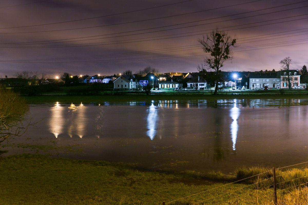 Hochwasser am Sonntag bei Huncherange/Bettemburg.