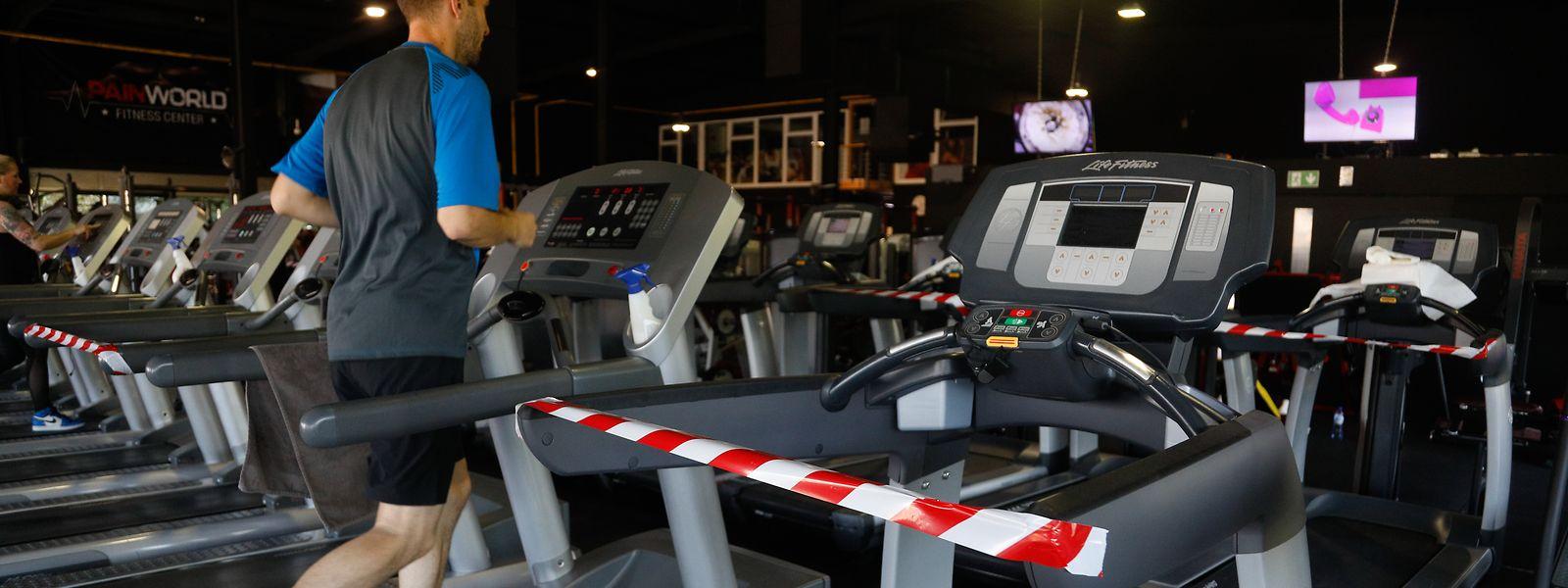 Fitness-Studios werden derzeit unter erschwerten Bedingungen betrieben.