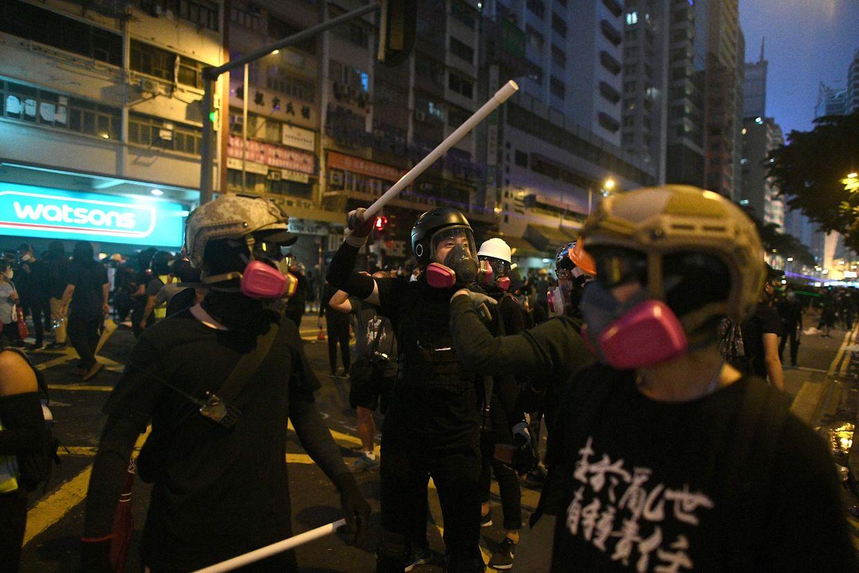 Zwischen den Demonstranten und den Sicherheitskräften kam es am Wochenende zu heftigen Ausschreitungen.