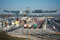 Terminal multimodal des CFL à Bettembourg/Dudelange - Photo : Pierre Matgé