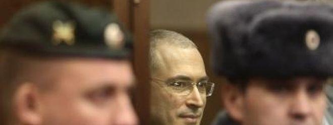 Michail Chodorkowski im Gerichtssaal.